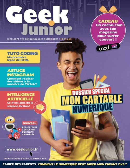 cover magazine geek junior